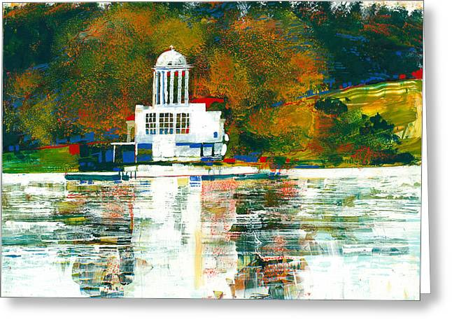 White River Scene Mixed Media Greeting Cards - All The Gods Greeting Card by David Bates