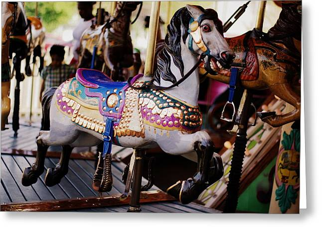 Deli Greeting Cards - All the Kings Horses Greeting Card by Linda Mishler
