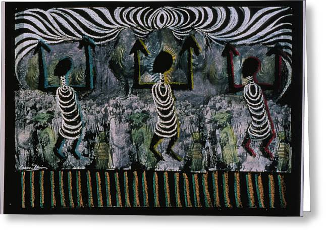 Nsbidi Greeting Cards - All This Country Belongs to Us Greeting Card by Barbara Nesin