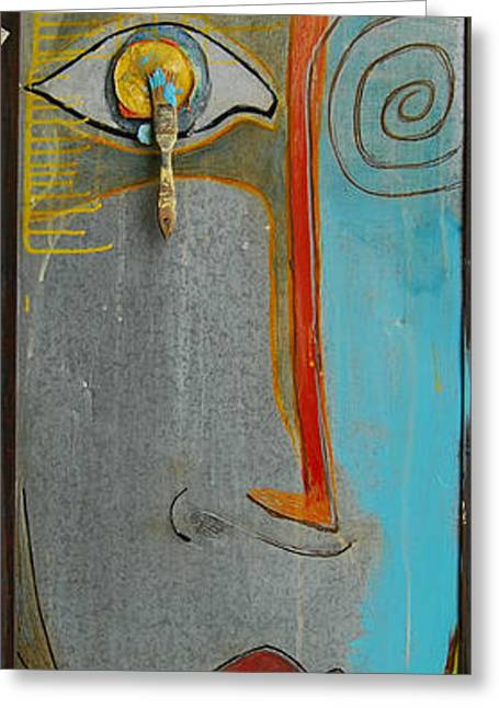 Abstract Expressionist Greeting Cards - All Way Greeting Card by John Thomas