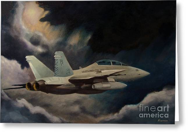 F-18 Greeting Cards - All Weather - Single Craft Greeting Card by Stephen Roberson