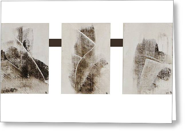Cespon Greeting Cards - All Winter Abstract Composition  Greeting Card by Xoanxo Cespon