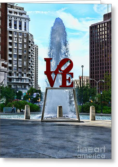 John F. Kennedy Plaza Greeting Cards - All you need is love Greeting Card by Paul Ward