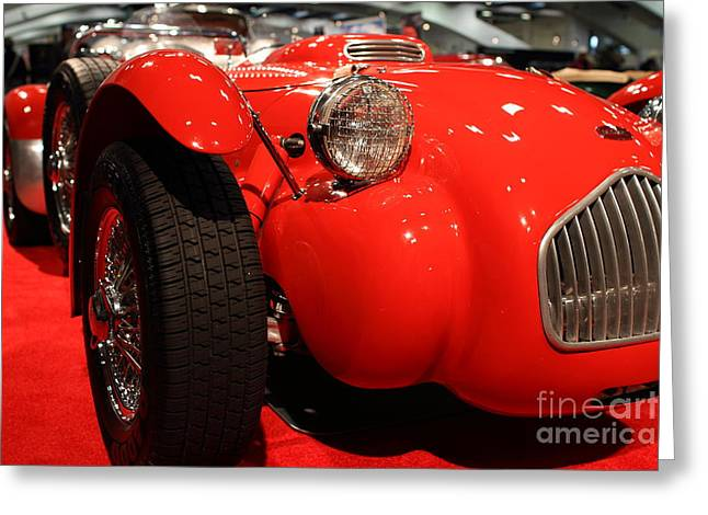 Allard Greeting Cards - Allard J2X Low Front Angle Greeting Card by Wingsdomain Art and Photography