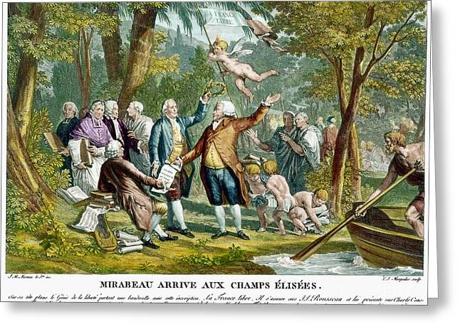 Dramatist Greeting Cards - Allegorical Engraving, 1792 Greeting Card by Granger