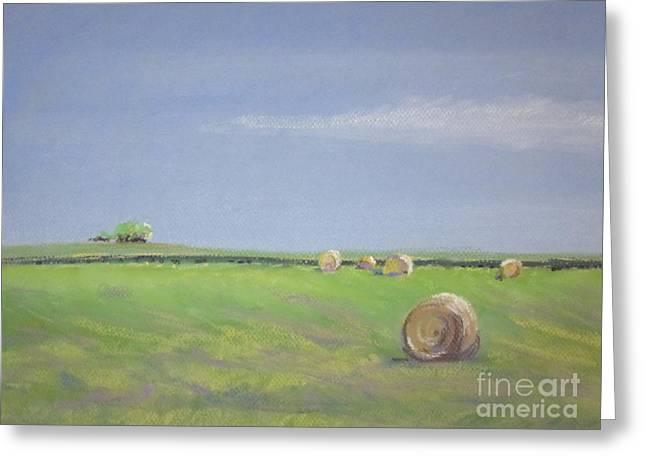 Farming Pastels Greeting Cards - Allendale Farmland Greeting Card by Sandra Strohschein