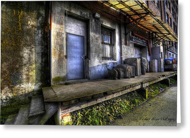 Wesley Allen Photography Greeting Cards - Alley Art 14 Greeting Card by Wesley Allen Shaw