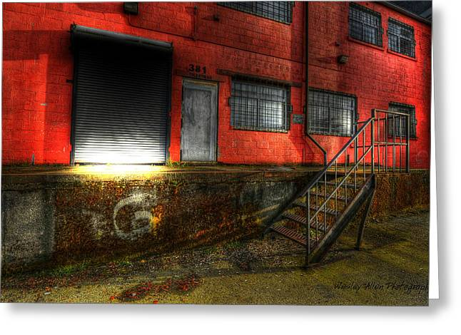 Wesley Allen Photography Greeting Cards - Alley Art 15 Greeting Card by Wesley Allen Shaw