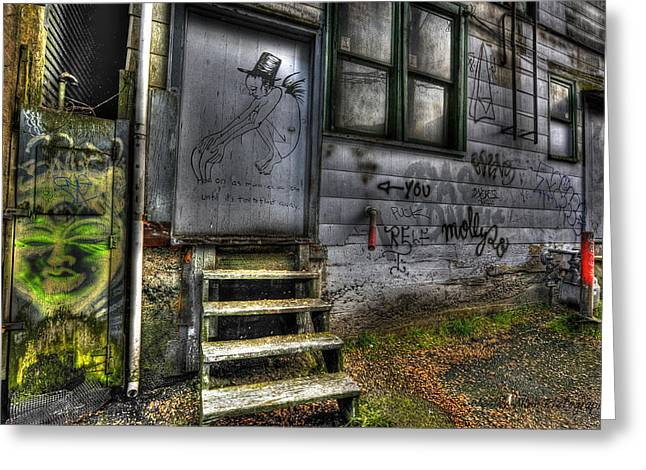 Wesley Allen Photography Greeting Cards - Alley art 16 Greeting Card by Wesley Allen Shaw