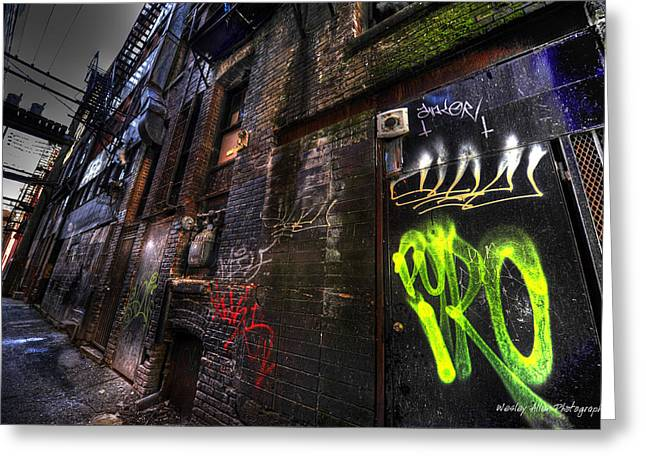 Wesley Allen Photography Greeting Cards - Alley Art 19 Greeting Card by Wesley Allen Shaw