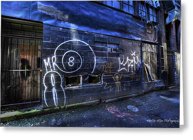 Wesley Allen Photography Greeting Cards - Alley Art 6 Greeting Card by Wesley Allen Shaw