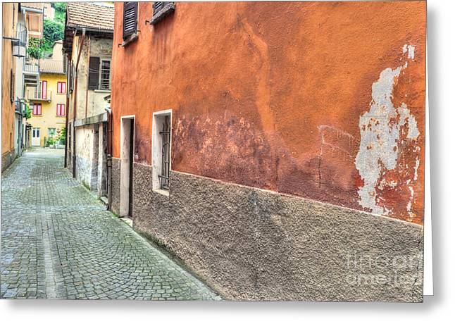 Alley Stairs Greeting Cards - Alley Greeting Card by Mats Silvan