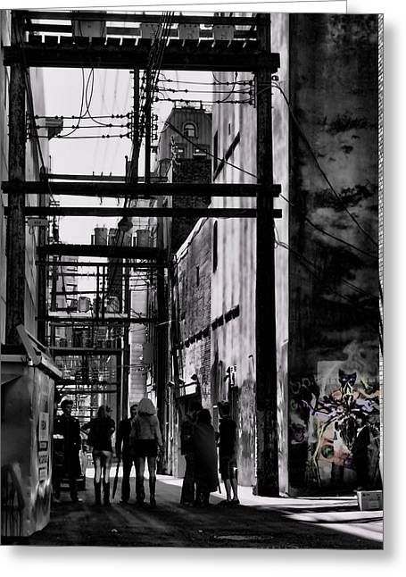 Jerry Cordeiro Framed Prints Greeting Cards - Alley Parade  Greeting Card by Jerry Cordeiro
