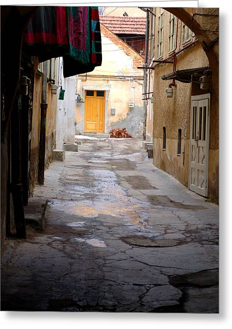 Romania Photographs Greeting Cards - Alleyway Sibiu Romania Greeting Card by Todd Fox