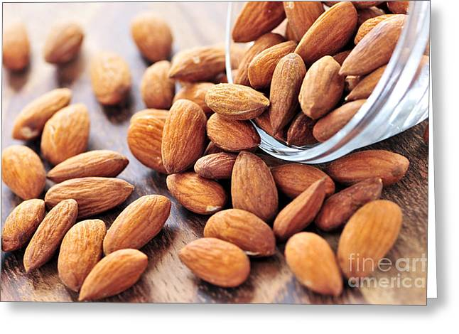Nutritional Greeting Cards - Almonds Greeting Card by Elena Elisseeva