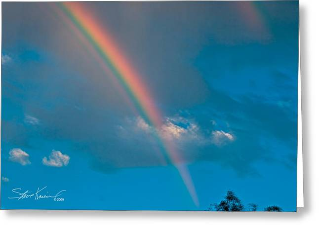 Steve Knievel Greeting Cards - Almost a Double Rainbow Greeting Card by Steve Knievel