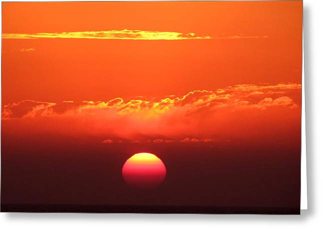 """sunset Photography"" Greeting Cards - Almost a kiss Greeting Card by Evelyn Patrick"