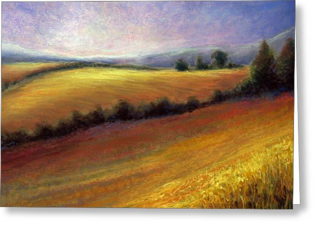 Tuscan Valley Greeting Cards - Almost Heaven Greeting Card by Susan Jenkins