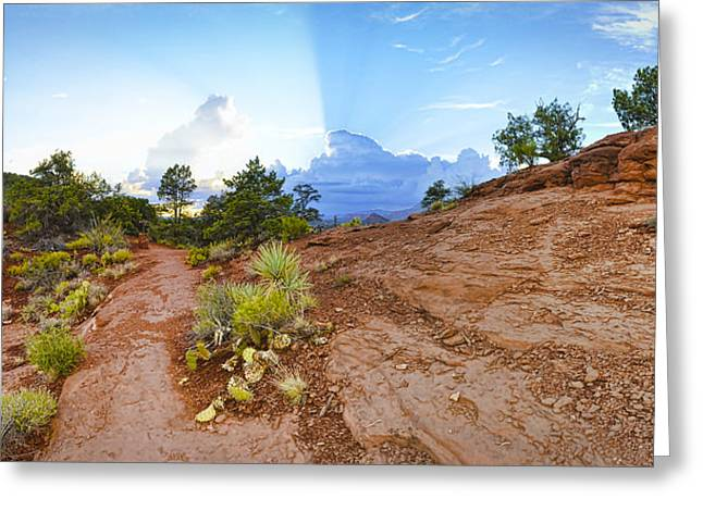 Rugged Terrain Greeting Cards - Almost Home Greeting Card by Dan Turner