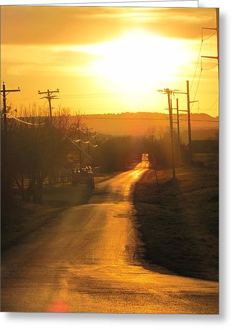 Gloaming Greeting Cards - Almost Home Greeting Card by Shawn Hughes
