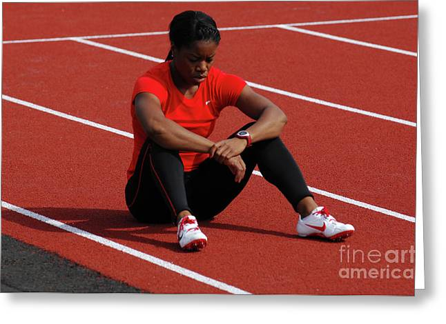 Hurdles Greeting Cards - Almost Ready Greeting Card by Bob Christopher
