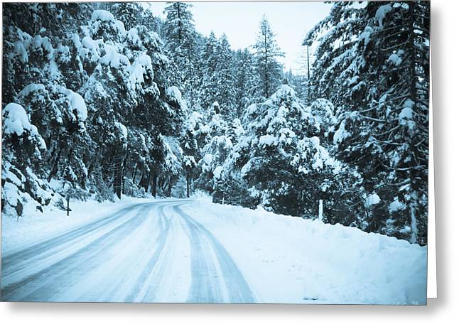 Snowy Day Greeting Cards - Almost There Greeting Card by Heidi Smith