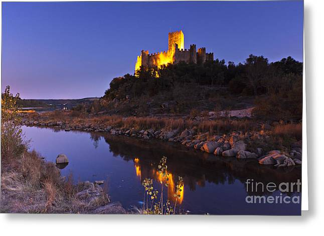 Ribatejo Greeting Cards - Almourol Castle Greeting Card by Andre Goncalves