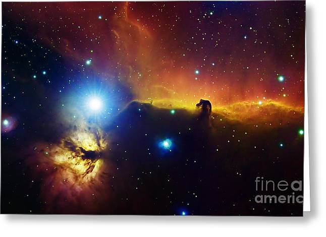 View From Space Greeting Cards - Alnitak Region In Orion Flame Nebula Greeting Card by Filipe Alves