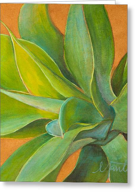 Tropical Plants Greeting Cards - Aloha 2 Greeting Card by Athena  Mantle