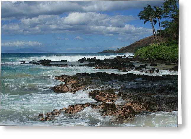 Honuaula Greeting Cards - Aloha Island Dreams Paako Beach Makena Secret Cove Hawaii Greeting Card by Sharon Mau
