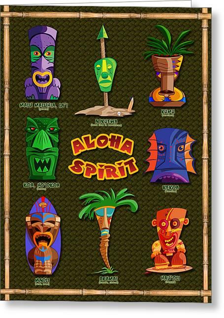 Haus Greeting Cards - Aloha Spirit Greeting Card by Ron Regalado