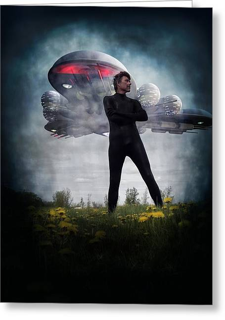 Michael Knight Greeting Cards - Alone I stand Greeting Card by Michael Knight