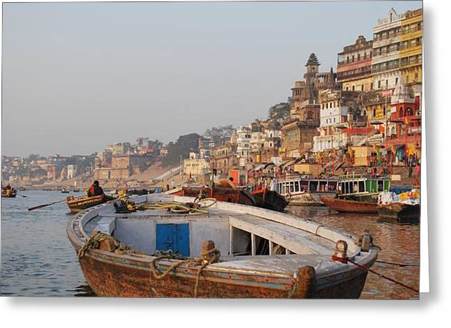 Alone on the Ganges Greeting Card by Jen Bodendorfer