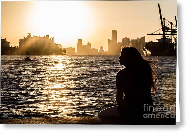 Divorce Greeting Cards - Alone Sad and Lonely Greeting Card by Rene Triay Photography
