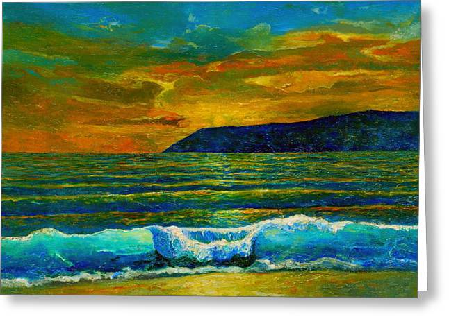 Cape Town Paintings Greeting Cards - Along the African Coast Greeting Card by Michael Durst