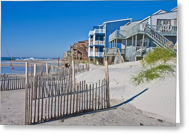Topsail Island Greeting Cards - Along the Beach Greeting Card by Betsy A  Cutler