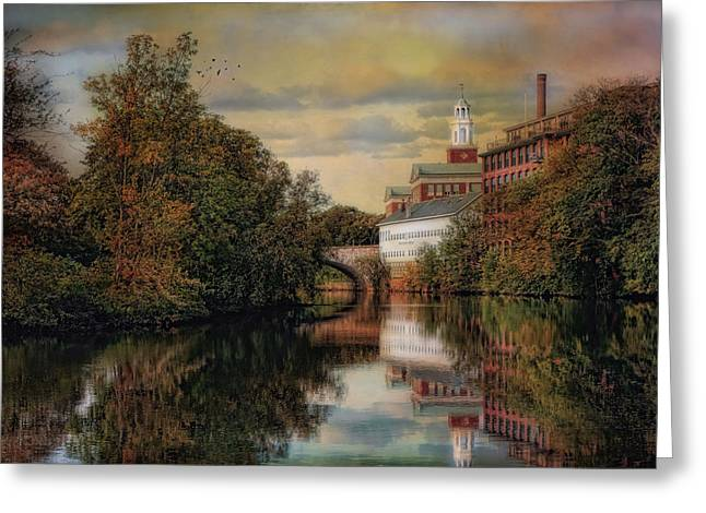 Blackstone River Greeting Cards - Along The Blackstone River Greeting Card by Robin-lee Vieira