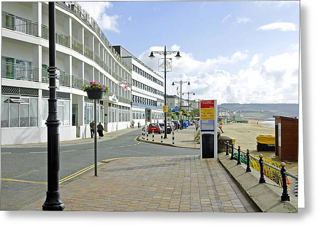 Europe Greeting Cards - Along the Esplanade at Sandown Greeting Card by Rod Johnson