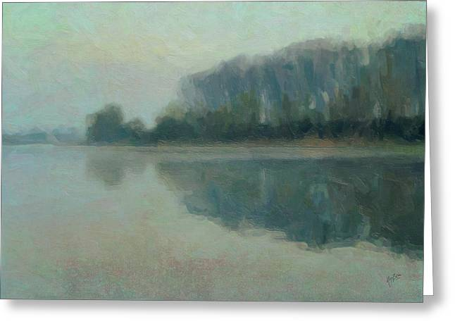 Along the Maas in Southern Limburg Greeting Card by Nop Briex