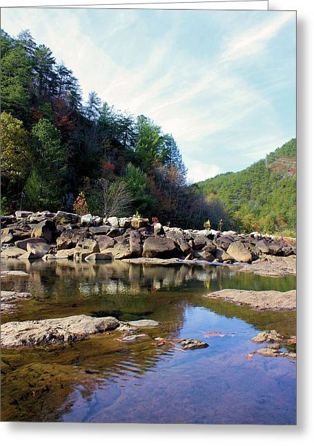 Clean Water Greeting Cards - Along the Ocoee Greeting Card by Kristin Elmquist