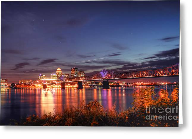 Office Space Photographs Greeting Cards - Along the Ohio Greeting Card by Darren Fisher