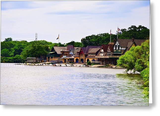 Boat House Row Greeting Cards - Along the Schuylkill River at Boat House Row Greeting Card by Bill Cannon