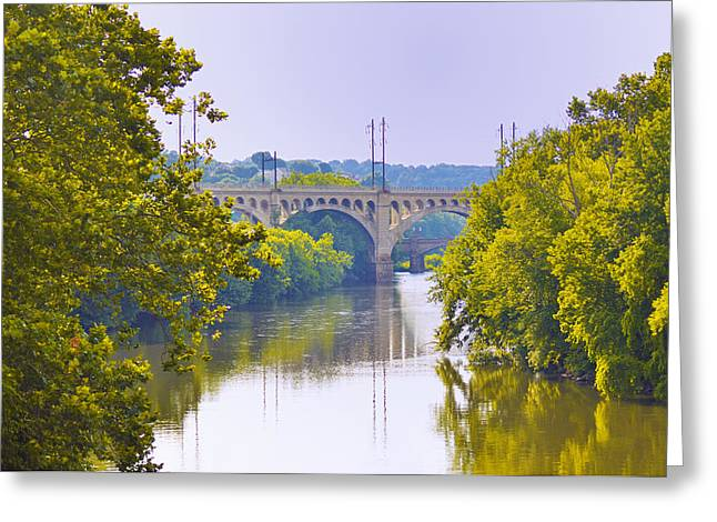 Schuylkill Digital Art Greeting Cards - Along the Schuylkill River in Manayunk Greeting Card by Bill Cannon