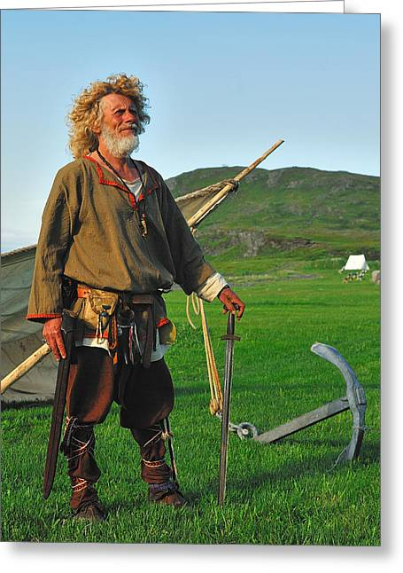 Along The Viking Trail Greeting Card by Tony Beck