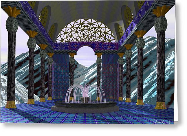 Alpen Temple Greeting Card by Christopher Lynch