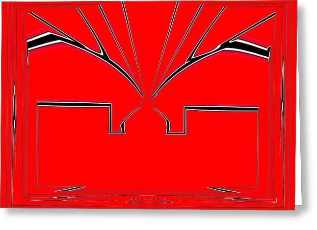 Abstract Style Greeting Cards - Alpesh No.6 Greeting Card by Danny Lally