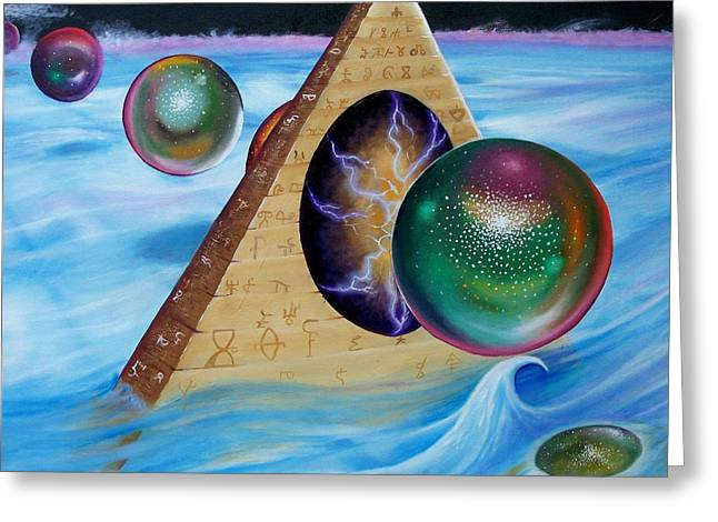 Pyramids Greeting Cards - Alpha and Omeg II Greeting Card by Arthur Covington