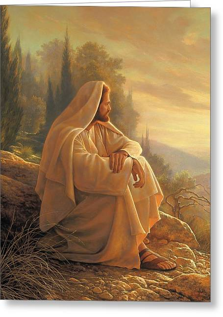 Best Sellers -  - Religious Greeting Cards - Alpha and Omega Greeting Card by Greg Olsen