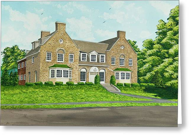 Historical Buildings Greeting Cards - Alpha Tau Omega Greeting Card by Charlotte Blanchard