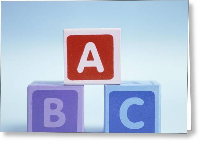 Literate Greeting Cards - Alphabet Blocks Greeting Card by Cristina Pedrazzini